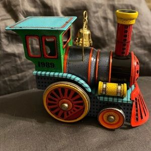 Hallmark Christmas Ornament Tin Locomotive